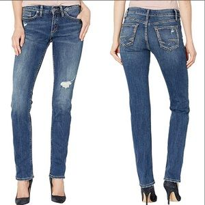 SILVER JEANS Suki Straight Leg Mid Rise Curvy Jean